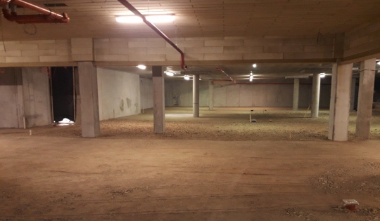 Pagrindų paruošimas betonavimo darbams požeminėse automobilių statymo aikštelėse