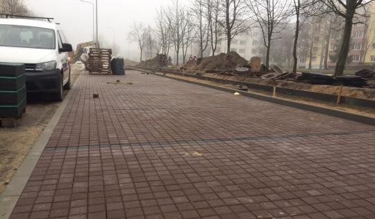 Statybininkų g. rekonstravimo darbai, Panevėžys